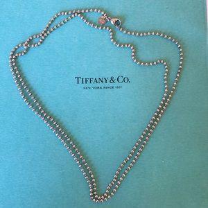 Tiffany & Co dog tag beaded necklace. UNISEX.💓💙